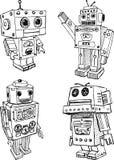 Zabawkarscy roboty Zdjęcie Royalty Free