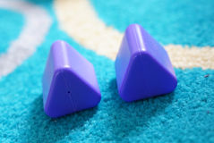 Zabawkarscy trójboki zdjęcie royalty free