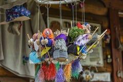 Zabawkarska baba bobaterka Rosyjskie ludowe bajki szyć od płótna Zdjęcie Royalty Free