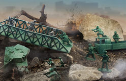 Zabawkarska bitwa zdjęcie royalty free