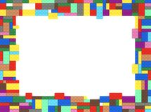 Zabawkarska cegła obrazka rama royalty ilustracja