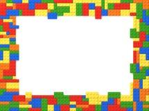Zabawkarska cegła obrazka rama - Przypadkowi kolory ilustracja wektor