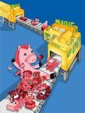 Zabawkarska fabryka również zwrócić corel ilustracji wektora Zdjęcie Royalty Free