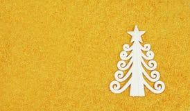 Zabawkarska forma jedlinowy drzewo biały kolor Zdjęcia Stock