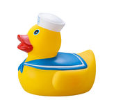 Zabawkarska Gumowa kaczka odizolowywająca Zdjęcie Royalty Free