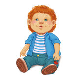 Zabawkarska lali chłopiec Obrazy Royalty Free