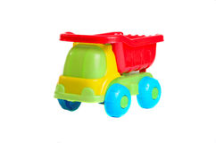Zabawkarska samochód ciężarówka na odosobnionym tle Zdjęcie Stock