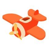 Zabawkarska samolotowa ikona, kreskówka styl ilustracja wektor