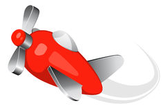 Zabawkarska samolotowa wektorowa ilustracja Obrazy Royalty Free