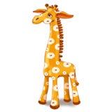 Zabawkarska żyrafa z punktami w kwiacie Zdjęcia Royalty Free