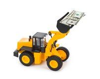 Zabawkarski ładowacz i pieniądze Obraz Royalty Free