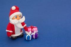 Zabawkarski Święty Mikołaj od gliny Fotografia Stock