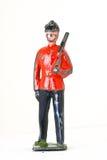Zabawkarski żołnierz z karabinem - stopy strażowy frontview Obraz Stock