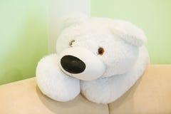 Zabawkarski biały niedźwiedź Zdjęcie Stock