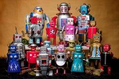 Zabawkarski Blaszany robot Zbiera 01 Zdjęcia Royalty Free