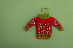 Zabawkarski Czerwony pulower Zdjęcia Royalty Free