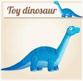 Zabawkarski dinosaur 2 obcy kreskówki kota ucieczek ilustraci dachu wektor Zdjęcia Stock