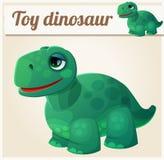 Zabawkarski dinosaur 4 obcy kreskówki kota ucieczek ilustraci dachu wektor Fotografia Royalty Free