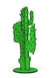 zabawkarski drewniany kaktus odizolowywający w białym tle, ścinek ścieżki inclu Zdjęcie Stock
