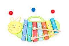 zabawkarski drewniany ksylofon Drewniana rozwija zabawka zdjęcie royalty free