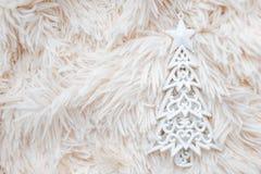 Zabawkarski drzewny biel Zdjęcie Stock