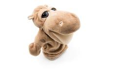 Zabawkarski hipopotama bielu tło Obraz Royalty Free