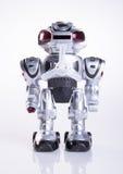 zabawkarski lub zabawkarski robot na tle obrazy stock