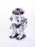 zabawkarski lub zabawkarski robot na tle zdjęcia royalty free