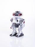 zabawkarski lub zabawkarski robot na tle fotografia stock