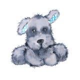 Zabawkarski pies pojedynczy białe tło Zdjęcia Royalty Free