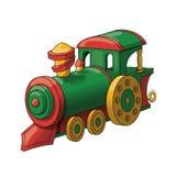 Zabawkarski pociąg odizolowywający na białym tle Fotografia Stock