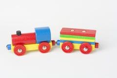 Zabawkarski pociąg towarowy Fotografia Royalty Free