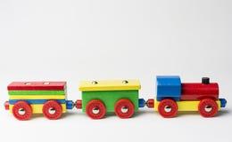 Zabawkarski pociąg towarowy Zdjęcie Royalty Free