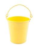 Zabawkarski pogodny żółty pail Fotografia Stock