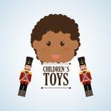 Zabawkarski projekta, dzieciństwa i gry pojęcie, Zdjęcia Royalty Free