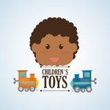 Zabawkarski projekta, dzieciństwa i gry pojęcie, Obrazy Royalty Free