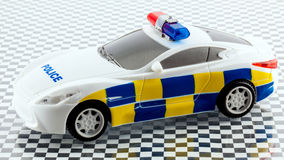 Zabawkarski samochód policyjny Obrazy Stock
