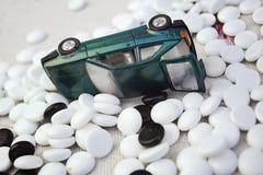 Zabawkarski samochód przechylający Obrazy Royalty Free