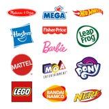 Zabawkarskich producentów firmy logowie Zdjęcia Royalty Free