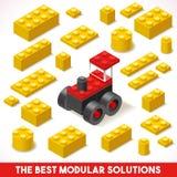Zabawkarskie bloku gospodarstwa rolnego 02 gry Isometric ilustracji