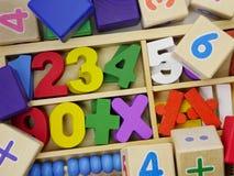 Zabawkarskie drewniane liczby Obrazy Royalty Free