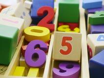 Zabawkarskie drewniane liczby Obraz Stock