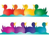 Zabawkarskie kaczki Obraz Stock