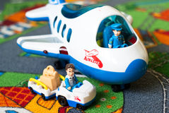 Zabawkarskie linie lotnicze Fotografia Royalty Free