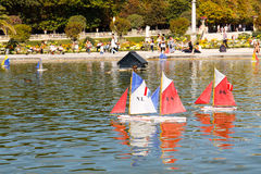 Zabawkarskie łodzie Obrazy Stock