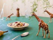 Zabawkarskie zwierzęce żyrafy Zdjęcie Royalty Free