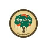 Zabawkarskiego sklepu logo z balonami Zdjęcia Stock