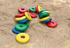 Zabawki bawić się z piaskiem Zdjęcia Stock