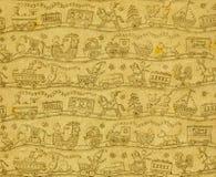 Zabawki, bezszwowy tło - ręka rysująca royalty ilustracja
