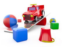 Zabawki, 3D Obrazy Royalty Free